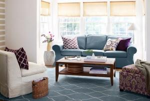 mavi renk koltuk takımı, ev dekorasyonu için eşya seçimi