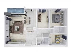 ev dekorasyonu için kat planı
